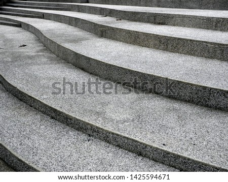 Abstract stairs in black and white, abstract steps, stairs in the city, granite stairs, often stone stairs seen on monuments and landmarks #1425594671