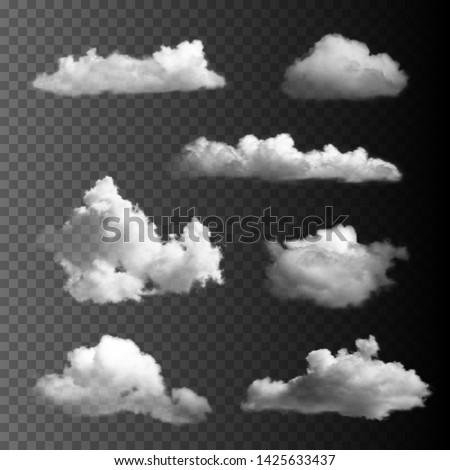 Big set of transparent clouds.