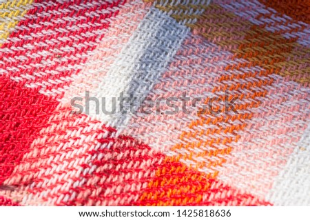 Cloth tablecloth background for pic-nic with warm colors