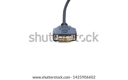 Cable DVI on white background #1425906602