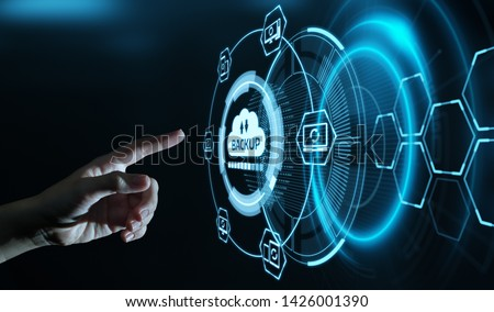 Backup Storage Data Internet Technology Business concept #1426001390