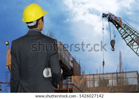 Engineer inspected the work in the construction site. #1426027142