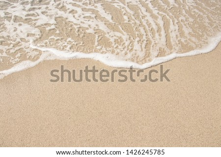 Sand and sea. Travel, seascape, summer, vacation concept. Place for your design. #1426245785