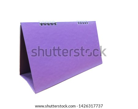 blank calendar isolated on white background, this has clipping path.  (with clipping path) #1426317737