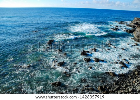 sea and rocks, digital photo picture as a background #1426357919