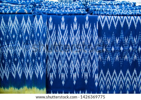 INDIGO,Indigo product,Indigo fabric with beautiful patterns,The pattern of indigo cloth which is unique to Thailand #1426369775