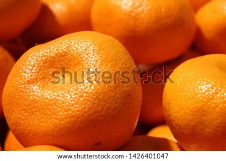 Fresh bulky Mandarin in the market #1426401047