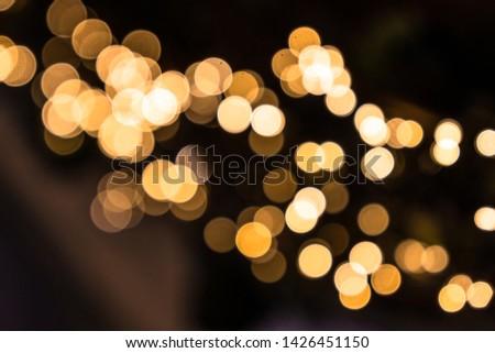 Yellow bokeh balls. Bokeh balls texture. #1426451150