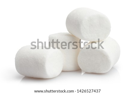 Heap of delicious marshmallows, isolated on white background #1426527437