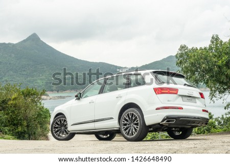 Hong Kong, China May, 2019 : Audi Q7 Test Drive Day test drive day on May 21 2019 in Hong Kong. #1426648490
