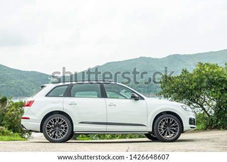 Hong Kong, China May, 2019 : Audi Q7 Test Drive Day test drive day on May 21 2019 in Hong Kong. #1426648607