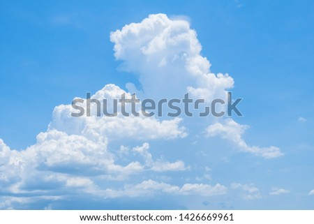 White cloudy with blue sky background. #1426669961