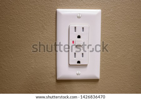 Tripped Ground Fault Interrupter Outlet #1426836470