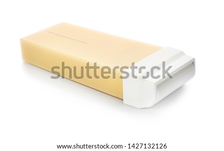Cartridge with wax for hair removing on white background #1427132126