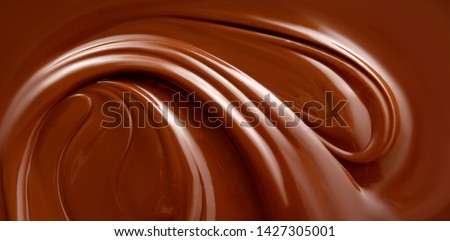 Chocolate background. Melted chocolate surface. Chocolate surface. #1427305001
