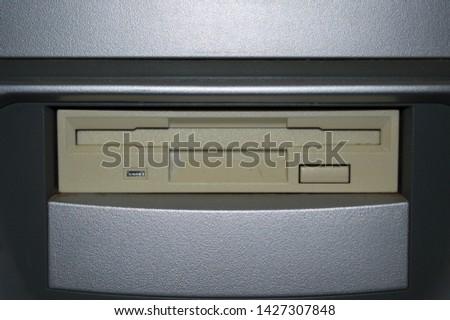 (flop disk) floppy disk entry on old computer #1427307848