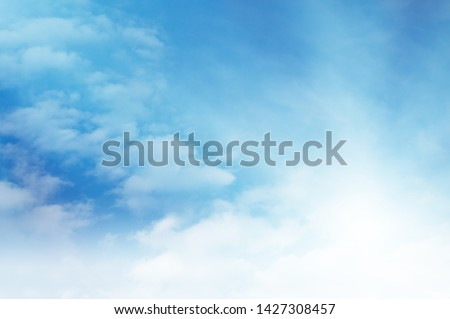 blue sky with white cloud #1427308457