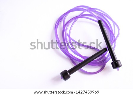 jump rope on white background #1427459969