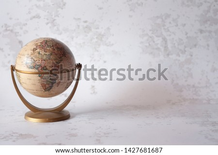 Detail of a World Globe, Focus on Africa and Europe. Text space #1427681687