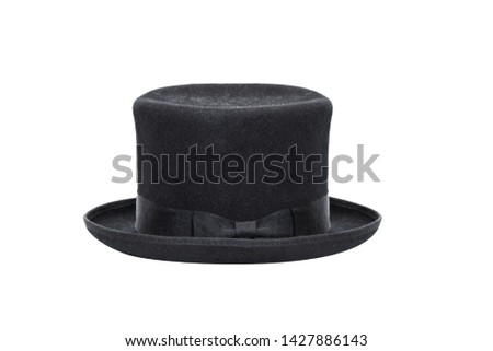 Black Top Hat isolated on white background. With clipping path #1427886143
