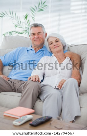 Mature couple relaxing on a couch #142794667