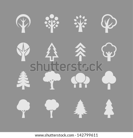 Natural tree icon set #142799611