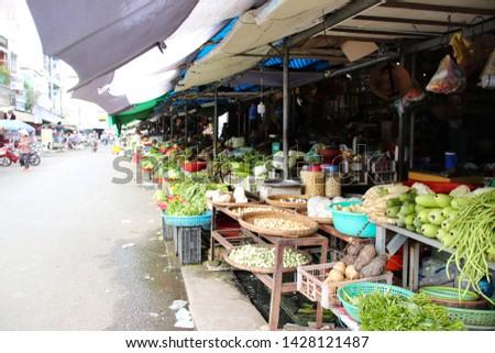 Local market in Vinh Long, Vietnam #1428121487