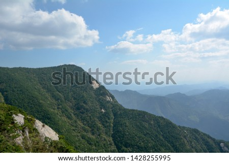 Summer Scenery of Heaven Village National Geological Park in Hubei Province #1428255995