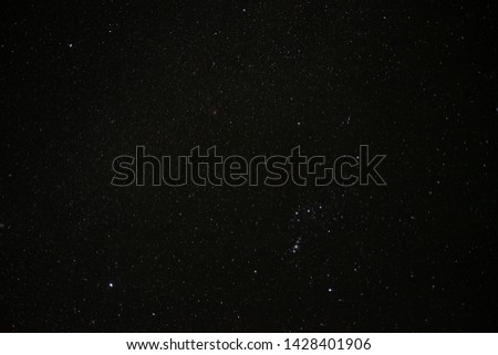 the many beautiful starlight in the galaxy on black midnight sky photograph #1428401906