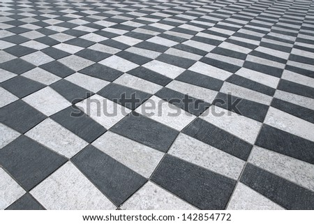 Black and white ceramics on the Place Massena in the city of Nice, France #142854772