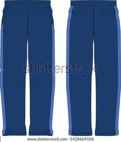 sweat pants vector graphic illustration isolated template #1428664106