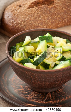 steamed zucchini with spices #142870150
