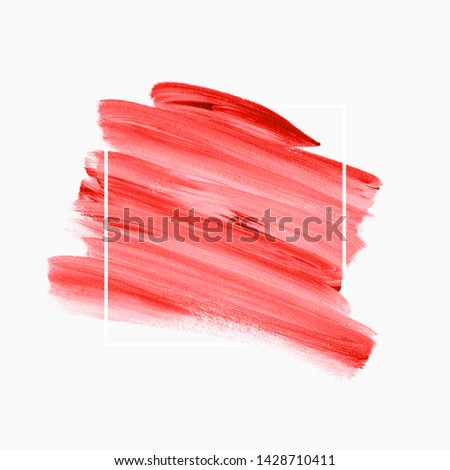 Brush stroke paint background vector. Perfect painted design for logo, sale banner or headline. #1428710411