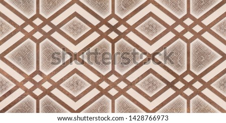Brown Color Square Shape Design with Embossed Patterned. Matt Texture Effect Design with Small Light Lining. description #1428766973