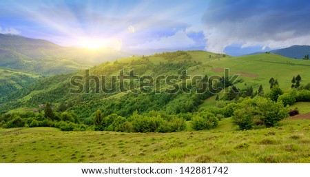 Beautiful mountain landscape in summer day #142881742
