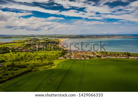 Landscape aerial view of Donabate region in Dublin, Ireland.  #1429066310