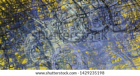 Artistic sketch backdrop material. Abstract geometric pattern. Chaos and random. Modern art drawing painting. 2d illustration. Digital texture wallpaper.  #1429235198