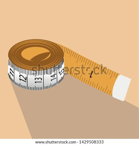 a tape measure in light pink background #1429508333