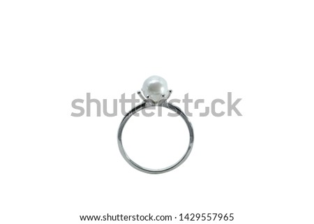 Wedding rings set of silver metal on whit background isolated vector illustration #1429557965