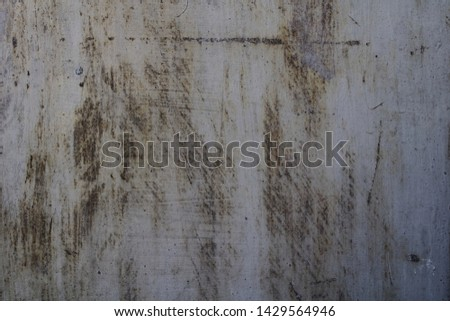 Background texture of gray iron sheet with patterns of rust. #1429564946
