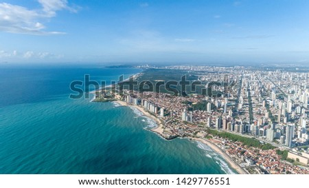 Beautiful aerial image of the city of Natal, Rio Grande do Norte, Brazil. Royalty-Free Stock Photo #1429776551