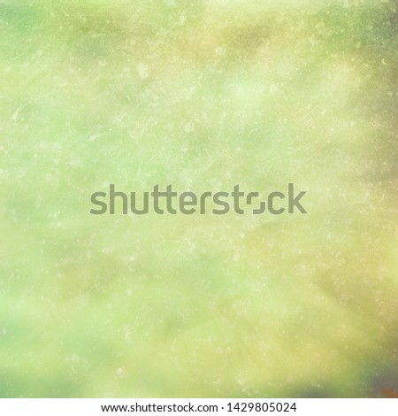 Digital art textured effect grunge abstract background in shades of yellow and green.  #1429805024