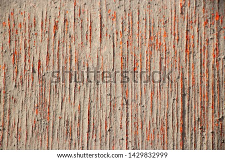 Red painted rough worn cracked texture #1429832999