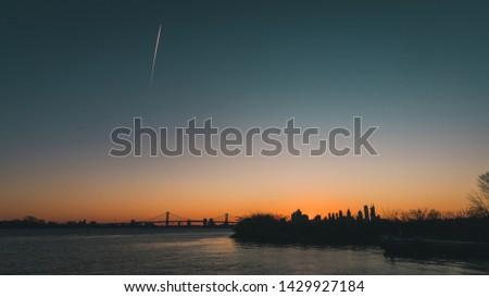 beautiful sunset over graffiti pier