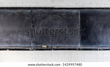 School classroom blackboard, a classroom blackboard after use #1429997480