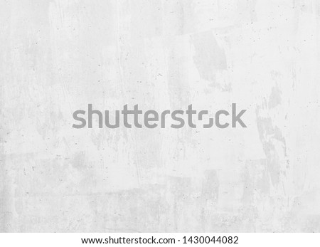 Concrete grunge white wall background #1430044082