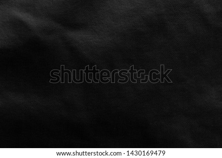 Black fabric sheets background or texture. #1430169479