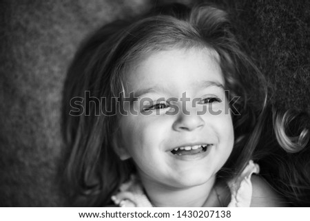 lifestyle portrait of 3 years old cute girl #1430207138