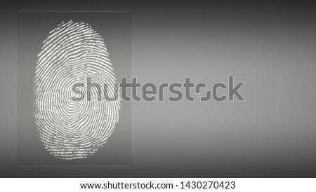 abstract digital fingerprint in front of background - 3D Illustration #1430270423