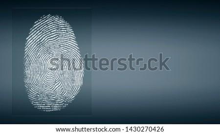abstract digital fingerprint in front of background - 3D Illustration #1430270426